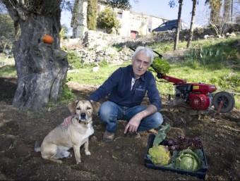 Joan Abad. Organic farmer. Photo:LLUÍS SERRAT