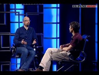 Salvador Macip talking to Neil Stokes on El Punt Avui TV. /  Foto:ARCHIVE