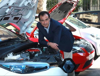 Ramon Caus, expert driver, businessman and organiser of the Expoelèctric trade fair dedicated to vehicles that use alternative energy sources. /  Foto:ARCHIVE