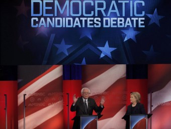 Sanders and Clinton in the recent New Hampshire debate Foto:REIUTERS