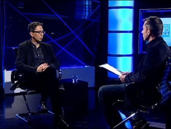 Ferran Barenblit with Barney Griffiths on El Punt Avui TV. /