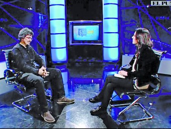 Ramon Térmens during the interview on El Punt Avui TV.