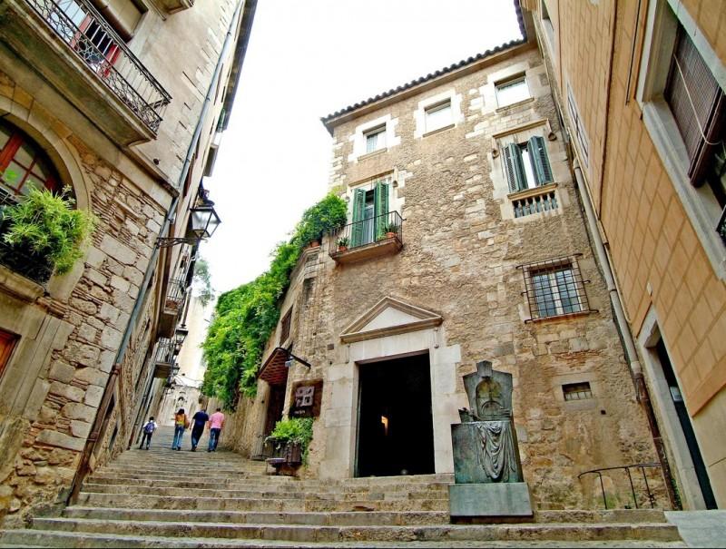 Girona's El Call, the citys' medieval Jewish quarter.  Foto:JORDI SOLER