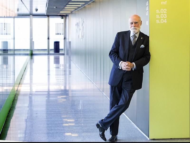 Vinton Cerf at the La Salle engineering school in Barcelona.  Foto:JOSEP LOSADA