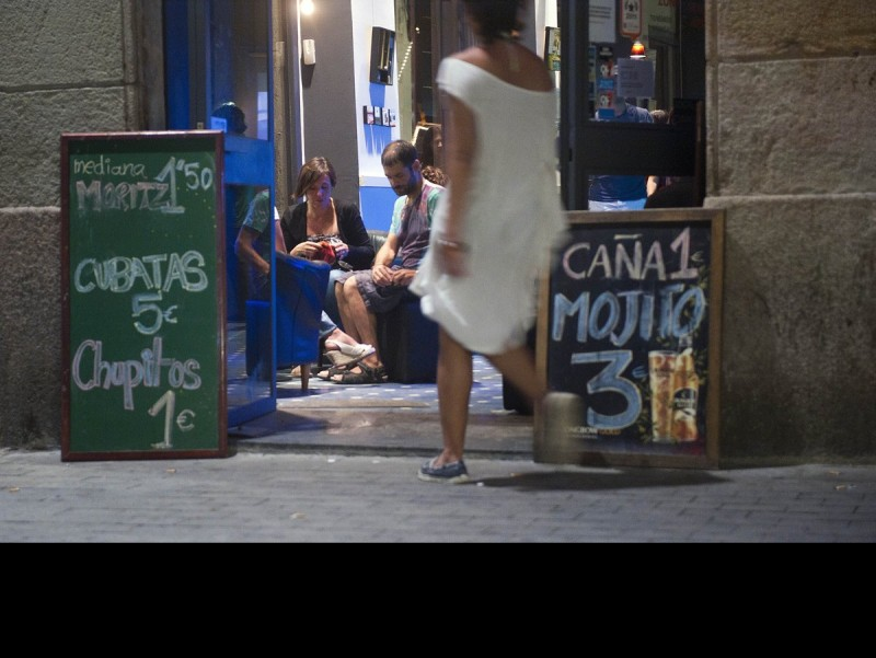Cheap beer, Barcelona's principal tourist attraction.